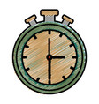 chronometer counter isolated icon vector image vector image
