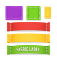 color label fabric blank different sizes vector image vector image