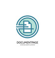 document page - logo template concept vector image