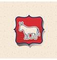 Donkey of vote inside frame design vector image vector image