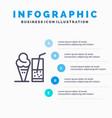 drink ice cream summer juice blue infographics vector image