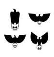 eagle and skull template for emblem set hawk logo vector image vector image