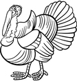 farm turkey cartoon for coloring book vector image vector image