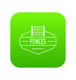 fence metal icon green vector image