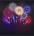 fireworks realistic background vector image vector image
