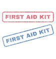 first aid kit textile stamps vector image vector image