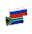 flags republic south africa and russia on a vector image vector image