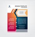 flyer brochure poster modern design template vector image vector image