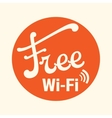 free zone wi-fi vector image