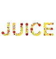 fresh fruits juice word vector image