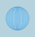 globe of blue lines isolated 3d line ball networ vector image vector image
