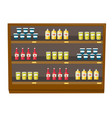 grocery store shelves with products cartoon vector image