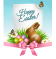 happy holiday background easter eggs and a vector image vector image