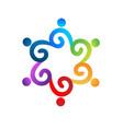 health nature hand care tree logo vector image