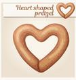 heart shaped pretzel cookie vector image vector image
