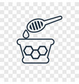 honey concept linear icon isolated on transparent vector image vector image