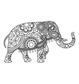 Indian elephant coloring pages template vector image vector image