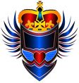 king shield vector image vector image