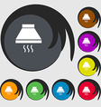 Kitchen hood icon sign Symbols on eight colored vector image vector image