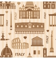 Landmarks of Italy seamless pattern vector image