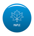 maple leaf icon blue vector image vector image