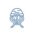 medusa line icon concept medusa flat vector image
