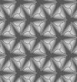 Monochrome gradually striped three pedal flowers vector image vector image