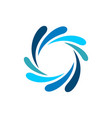 natural splash water ornamental logo template vector image vector image