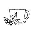 natural tea cup vector image