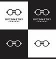 optometry glass optic eye care logo vector image