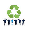 people business discuss brainstorming recycling vector image vector image