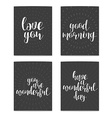 Realistic postcard Love you Good morning You are vector image vector image