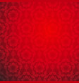 red lace ornamental seamless pattern vector image vector image