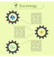 Renewable energy infographics vector image vector image