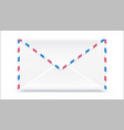 retro mail envelope shape with texture effect vector image vector image