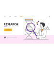 scientific research concept with young scientist vector image vector image