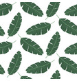 seamless pattern with banana leaves tropical vector image vector image