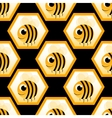 seamless pattern with honeybee vector image vector image
