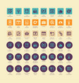 seo and development icon sets vector image