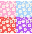 set abstract colorful floral pattern vector image