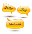 Set of glass speech bubbles vector image