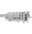 spyware word cloud concept vector image vector image