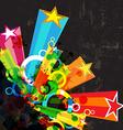 star festival grunge background vector image vector image