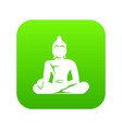 statue of buddha sitting in lotus pose icon vector image