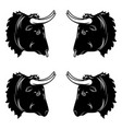 stylized design of black bull head vector image