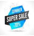 Summer Sale polygonal banner design template Sale vector image vector image