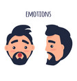 surprised emotion face from different angles vector image vector image