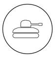 tank icon black color simple image vector image vector image
