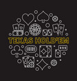 texas holdem poker game round linear vector image vector image