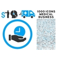 time service icon with 1000 medical business vector image vector image